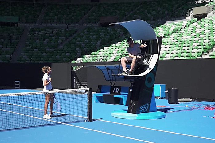 Lifting the bar with space-age Australian Open seats